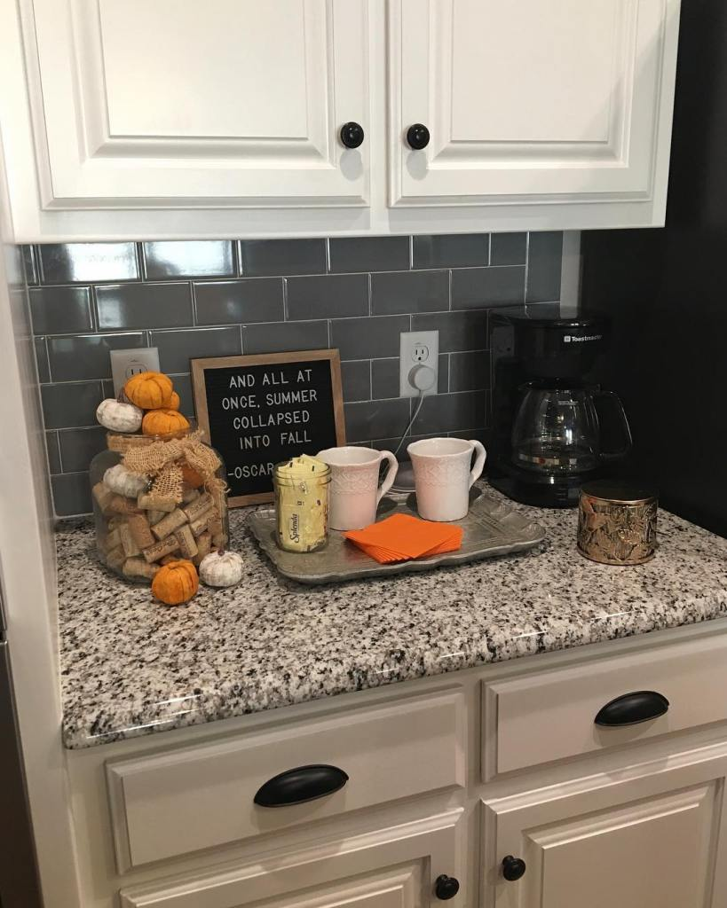 Fall Home Tour, Home Tour 2018, Simple Fall Decor, Coffee Bar