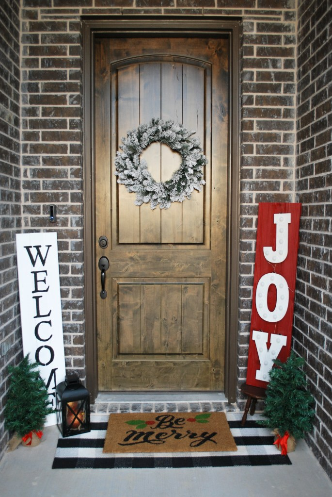 Rustic Porch, Christmas Decor, Buffalo Check, Christmas Front Porch