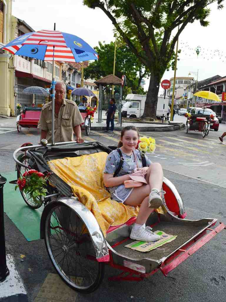 Find all the street art in Penang on a trishaw tour