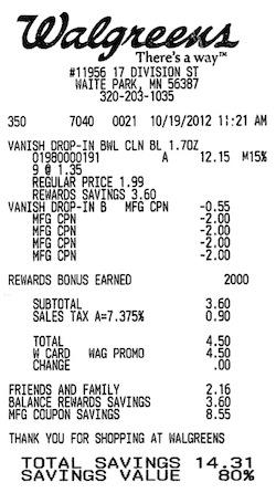 Walgreens Balance Rewards Update: Limit One Per Transaction