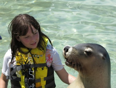 One of my very favorite photos this year. MissG up close and personal with a sea lion in Coffs Harbour