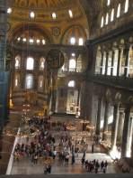 crowds of people in Hagia Sophia