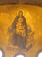 Madonna and Child Woman with child on her knee Hagia Sophia