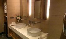 Etihad Lounge Sydney ladies restroom with twin basins