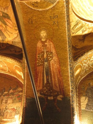 Byzantine mosaic of saint, chora church Istanbul
