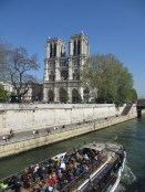 Notre Dame Cathedral on the banks of the River Seine