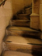 stone spiral staircase in Sainte Chapelle Paris