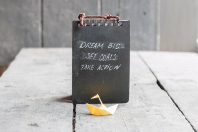 Dream Big - Set Goal - Take Action, motivational quote
