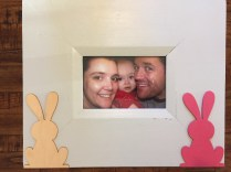 Picture frame embellished with spring easter chipboard craft supplies - 10 Cheap & Easy Spring Crafts
