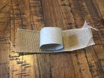 burlap wrapped around craft tube to make napkin ring - 10 Cheap & Easy Spring Crafts