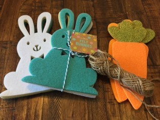 felt spring craft supplies bunnies and carrots - 10 Cheap & Easy Spring Crafts