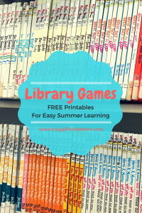 Fun Library Games For Kids - With Free Printables For Easy Summer Learning