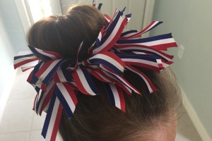 DIY Patriotic Ponytail Holder For Fourth Of July