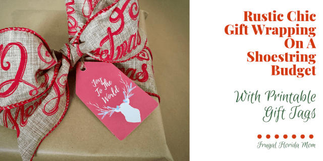Rustic Chic Gift Wrapping With Printable Gift Tags
