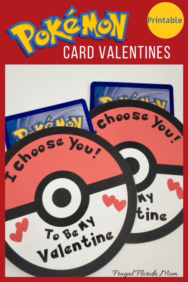 Pokemon Card Valentine Printable