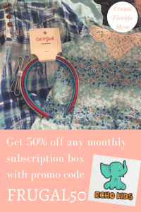 Get 50% off any monthly Echo Kids subscription box with code FRUGAL50 - A Frugal Mom's Favorite Subscription Box