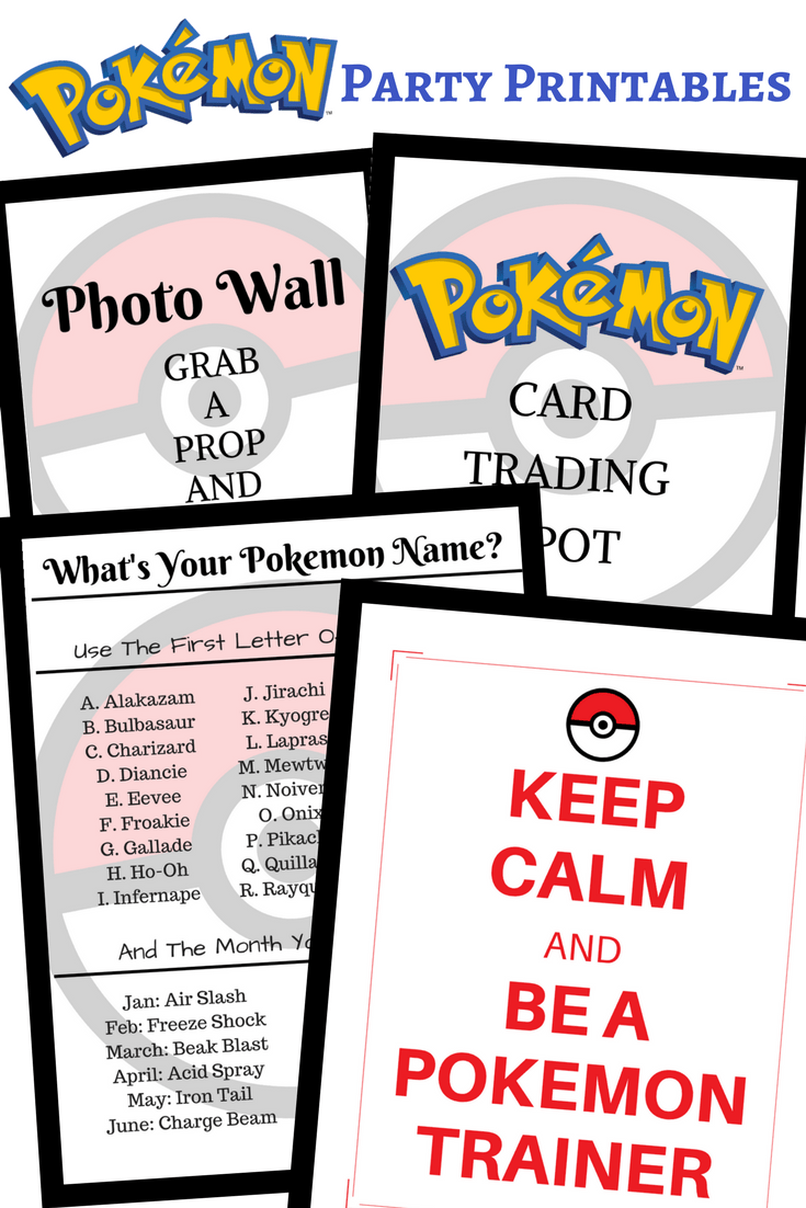 This is a picture of Pokemon Party Invitations Free Printable inside personalized birthday pokemon