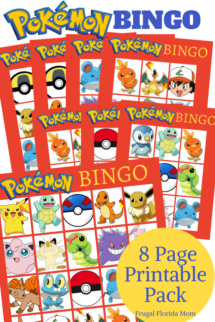 image relating to Printable Pokemon Party Games identified as Pokemon Birthday Get together Designs Printables - Frugal Florida Mother