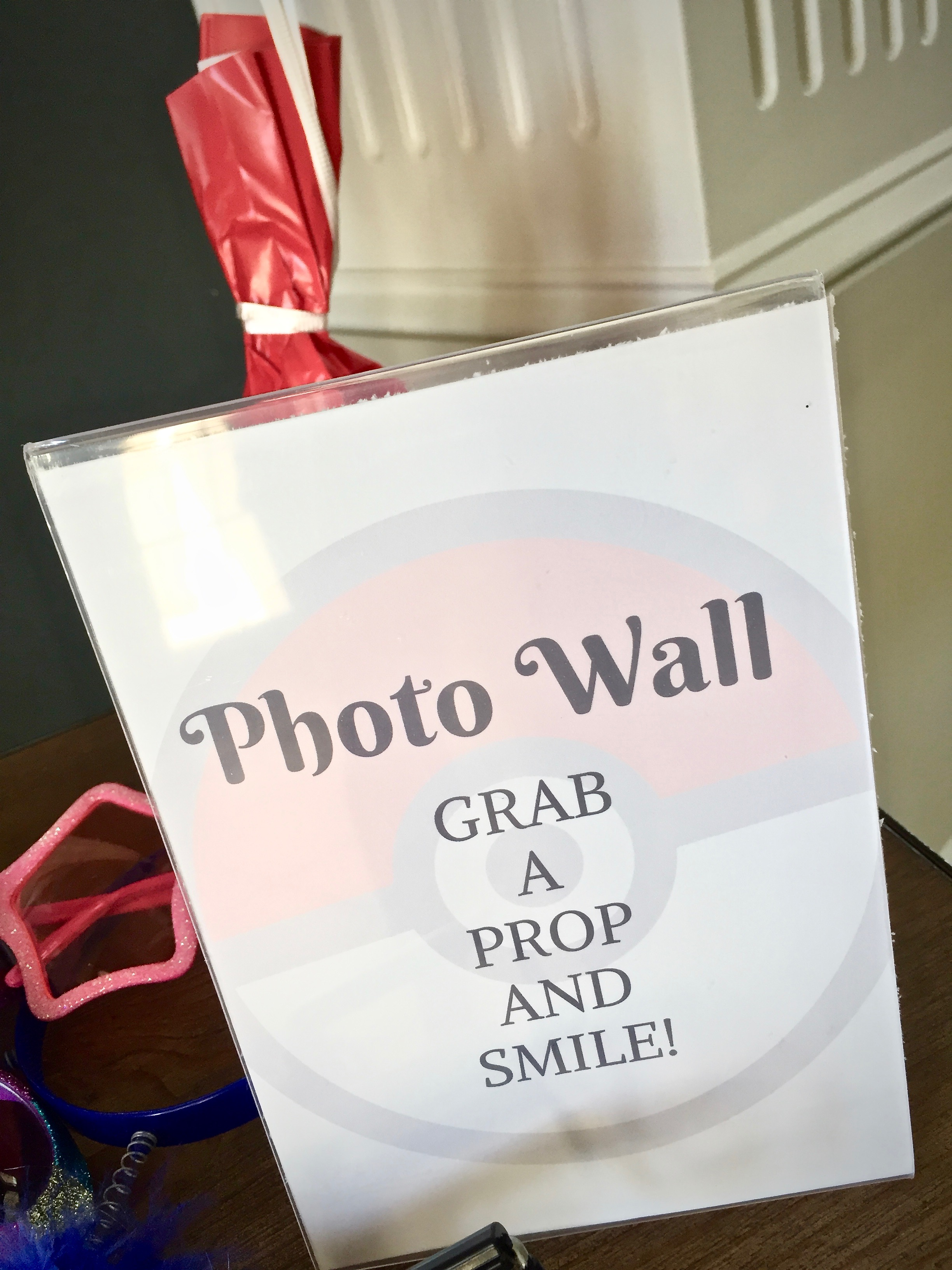 Free printable Pokemon party photo wall sign - Pokemon Party Ideas & Printables