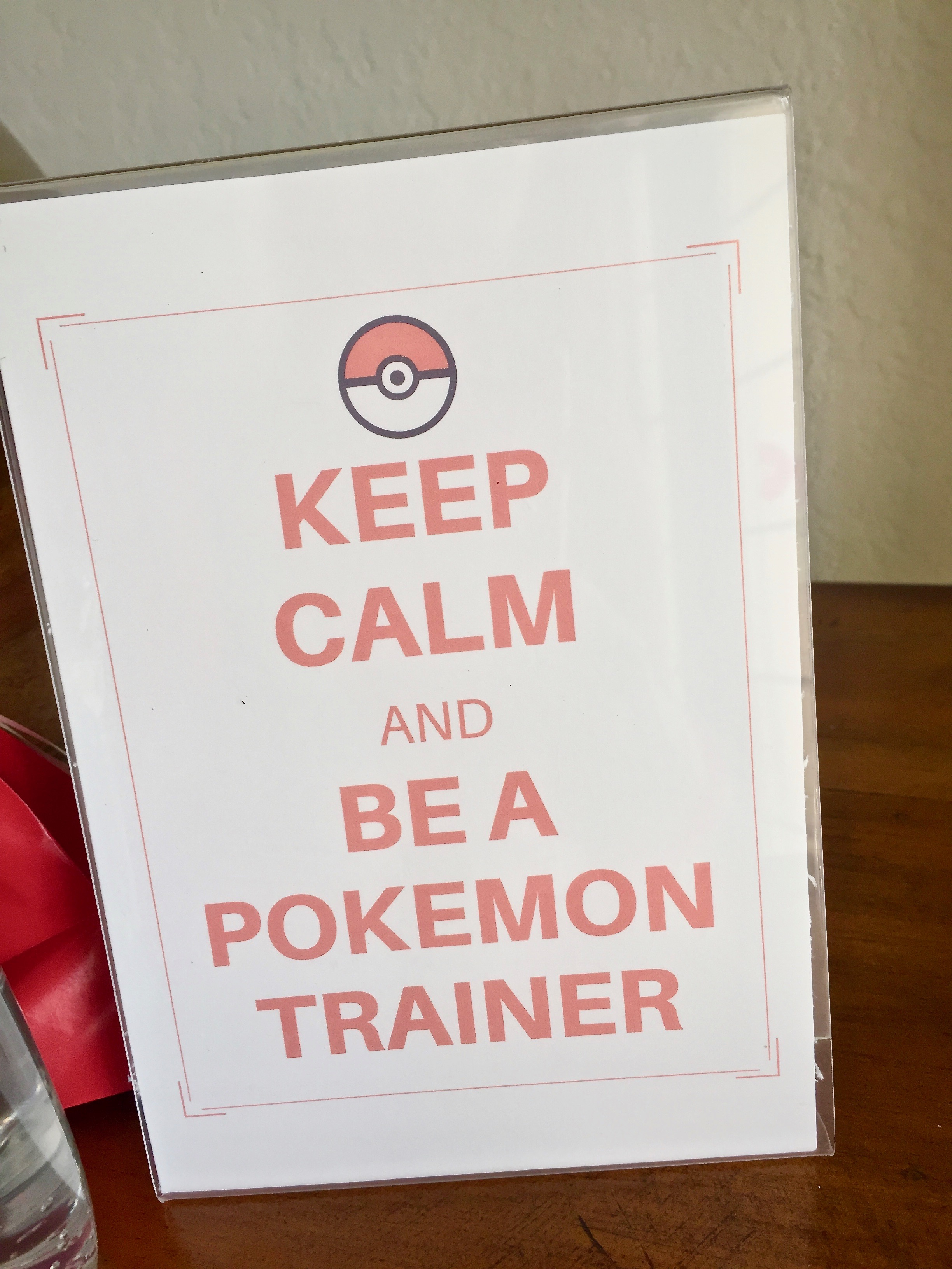 Free printable Keep Calm And Be A Pokemon Trainer sign - Pokemon Party Ideas & Printables