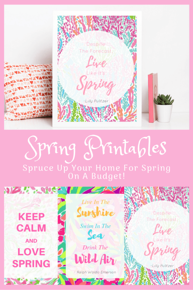 Affordable Ways To Spruce Up Your Home For Spring - With Free Spring Printables