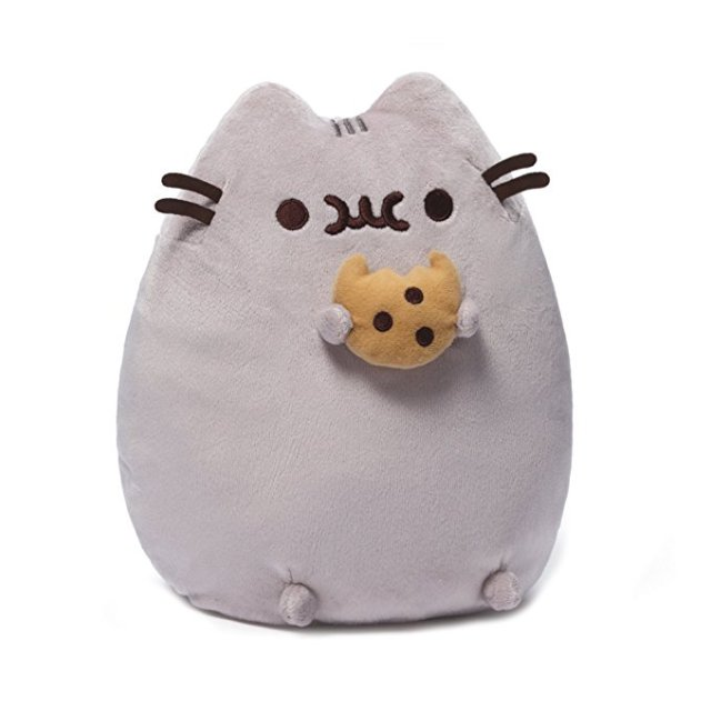 Pusheen plush with cookie - Pusheen Gift Guide