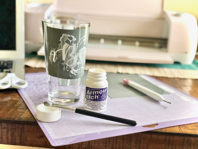 Glass etching cream - Glass Etching With Your Cricut Or Silhouette
