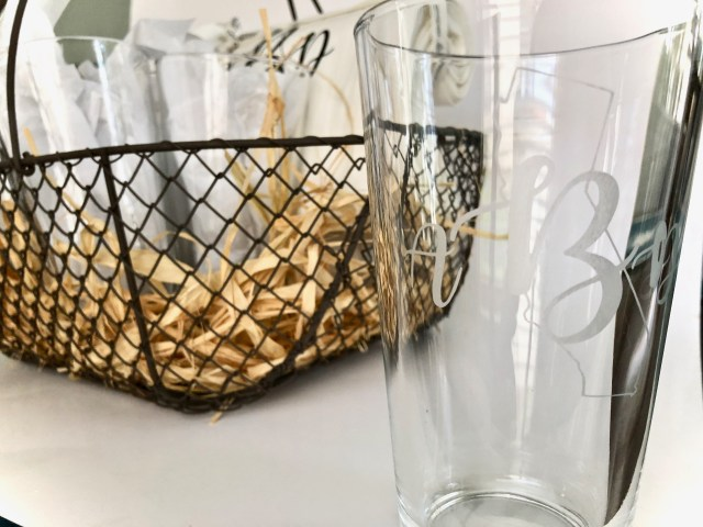 Monogram etched on drinking glass - Glass Etching With Your Cricut Or Silhouette