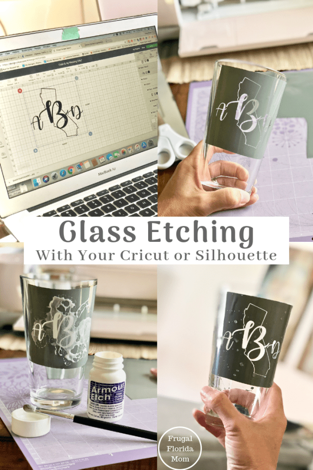 Glass Etching With Your Cricut Or Silhouette