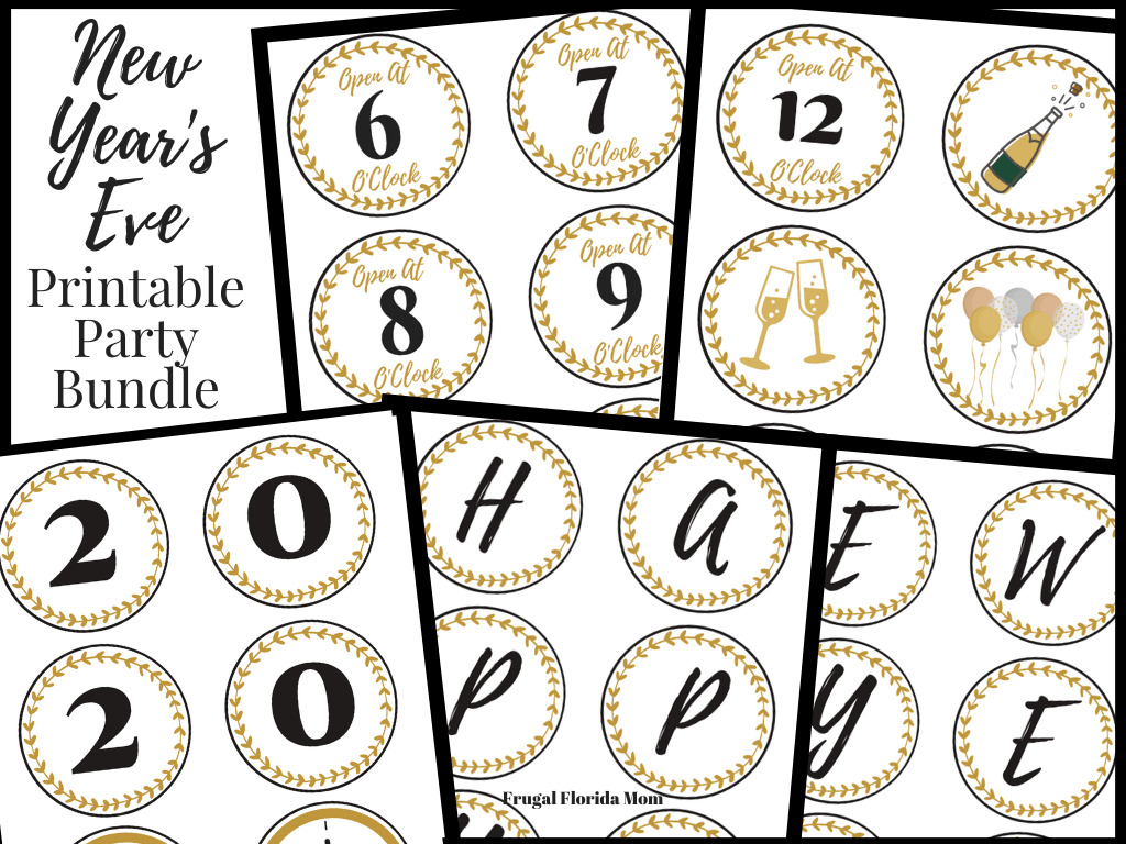 Family Friendly New Year's Eve Party Ideas With Printable Bundle