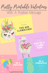 4 Pretty Printable Valentines With A Positive Message