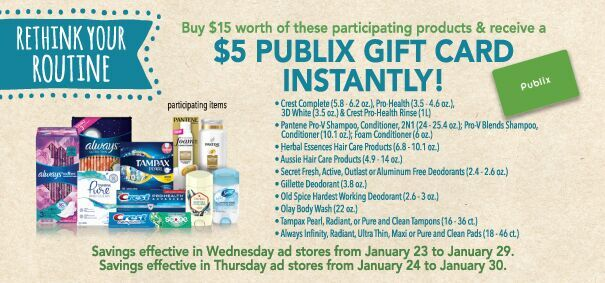 Try Something New! - Rethink Your Routine With P&G & Publix
