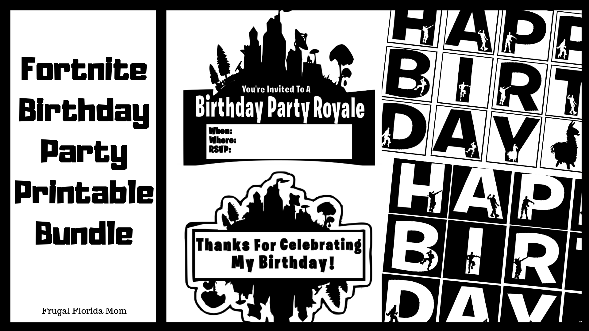image about Fortnite Logo Printable known as Fortnite Birthday Celebration Guidelines Printables - Frugal Florida Mother
