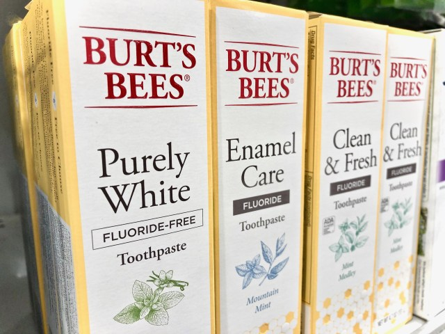 Burt's Bees toothpaste on store shelf - Honest To Goodness Essentials - Plant-Based And Nature Inspired Products On Sale At Publix