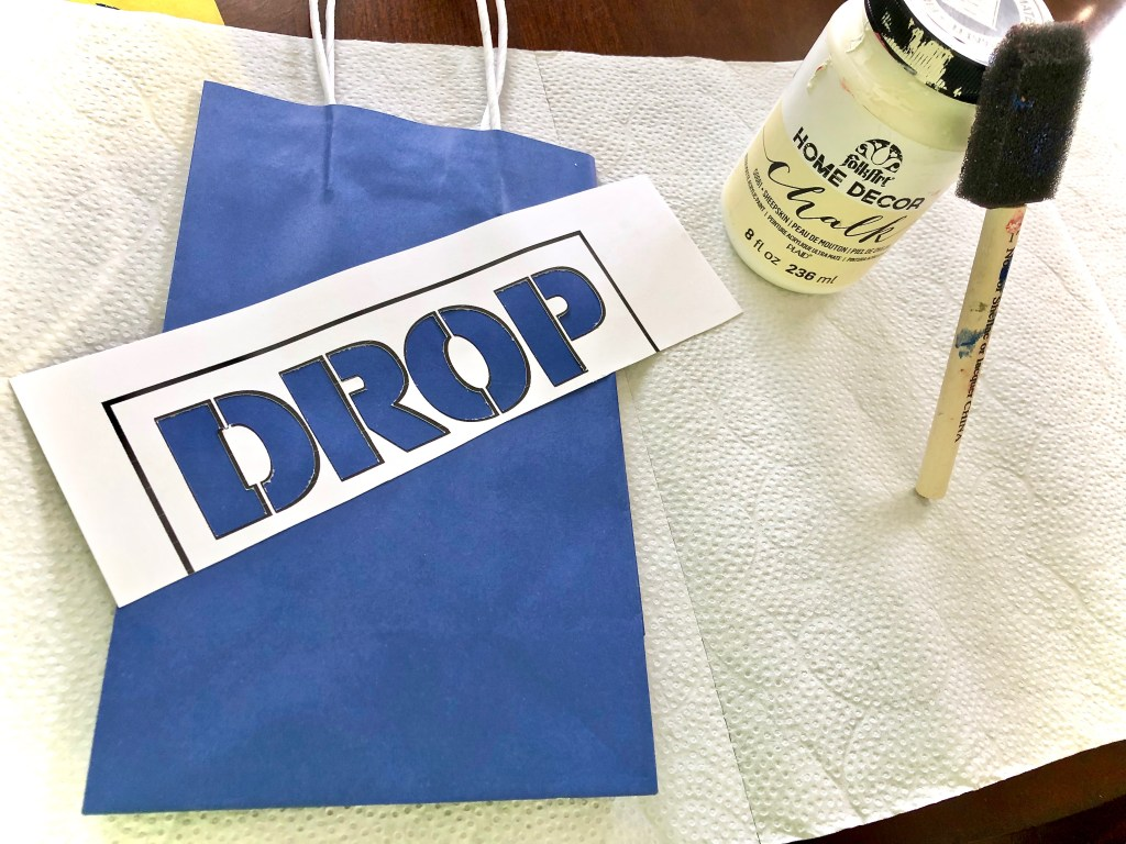 Fortnite supply drop DIY goodie bag - Fortnite Birthday Party Ideas & Printables