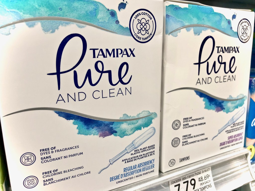 Tampax Pure and Clean Tampons - Honest To Goodness Essentials - Plant-Based And Nature Inspired Products On Sale At Publix
