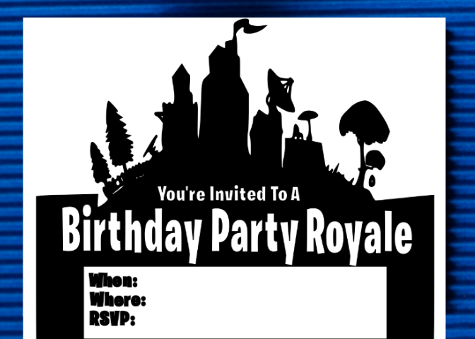 Printable Fortnite birthday party invitation - Fortnite Birthday Party Ideas & Printables