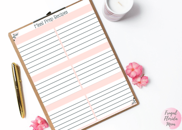Meal prep recipe printable - 20-Page Plan Like A Mother! Printable Bundle
