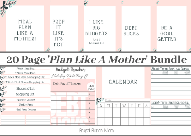 20-Page Plan Like A Mother! Printable Bundle