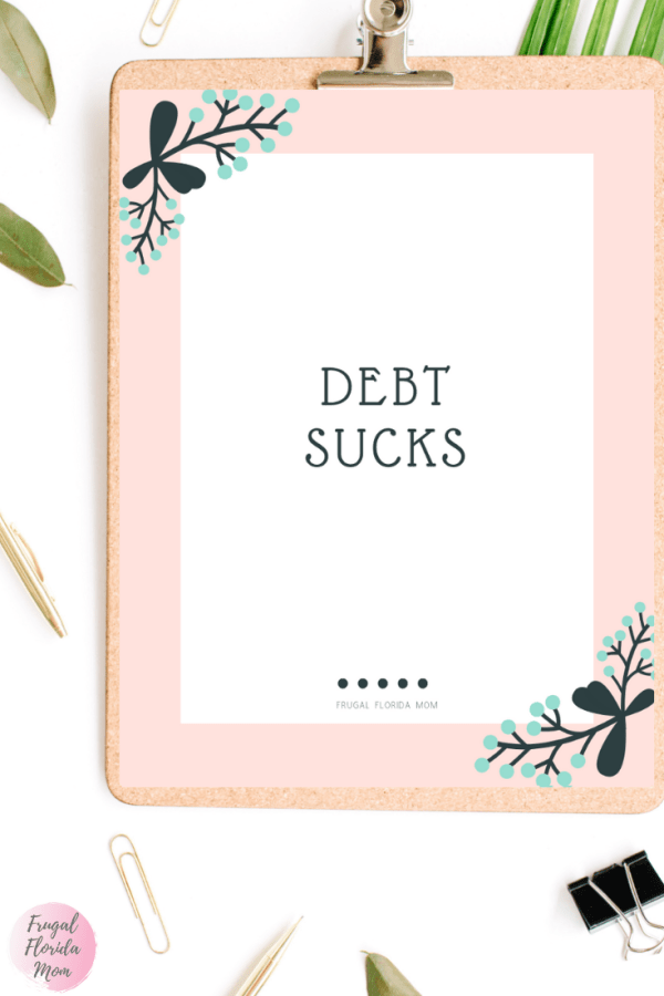 Debt Sucks printable debt payoff tracker worksheets - 20-Page Plan Like A Mother! Printable Bundle