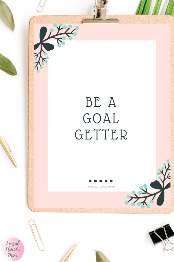 Be A Goal Getter printable savings goals worksheets - 20-Page Plan Like A Mother! Printable Bundle