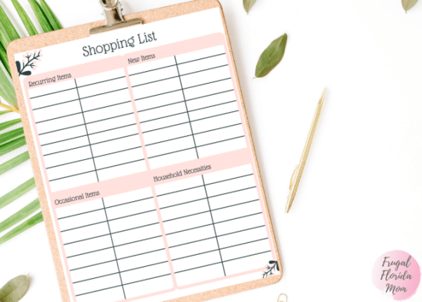 Shopping List Printable - 20-Page Plan Like A Mother! Printable Bundle