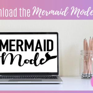 Mermaid Mode SVG - Using Cricut Infusible Ink With Colored Fabric
