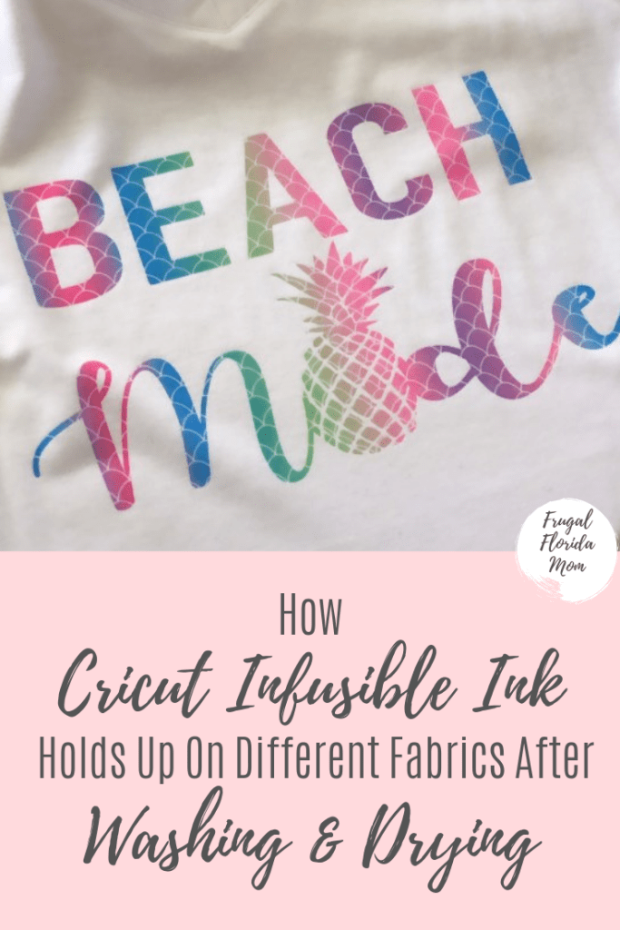 Cricut Infusible Ink - Cotton and other fabrics after washing and drying