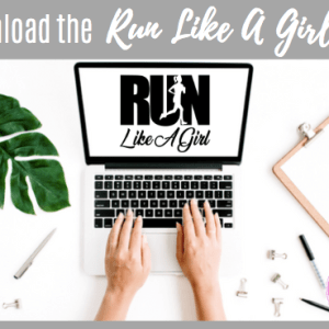 Run Like A Girl SVG