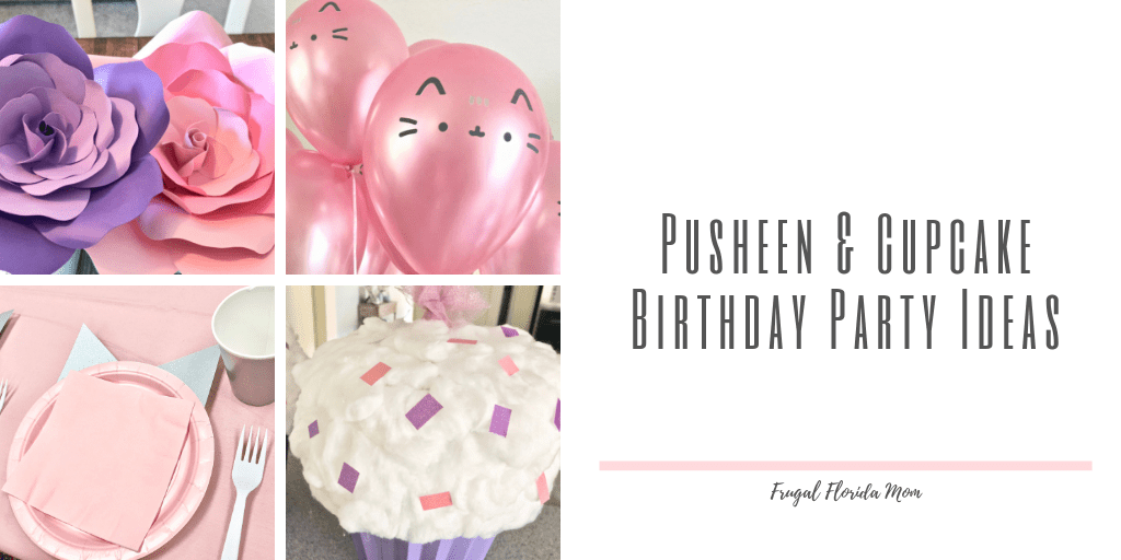 Pretty Pusheen and Cupcake Birthday Party Ideas
