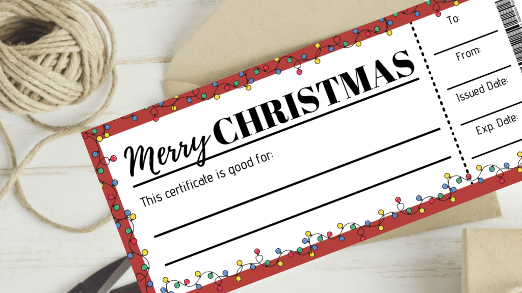 Christmas Experience Gifts For Kids - 30+ Ideas And Printable Gift Certificates