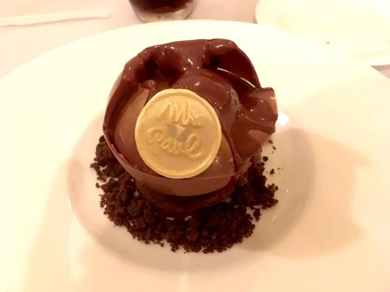 Sphere au chocolat monsieur Paul EPCOT