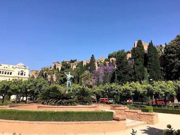 End of Parque de Malaga