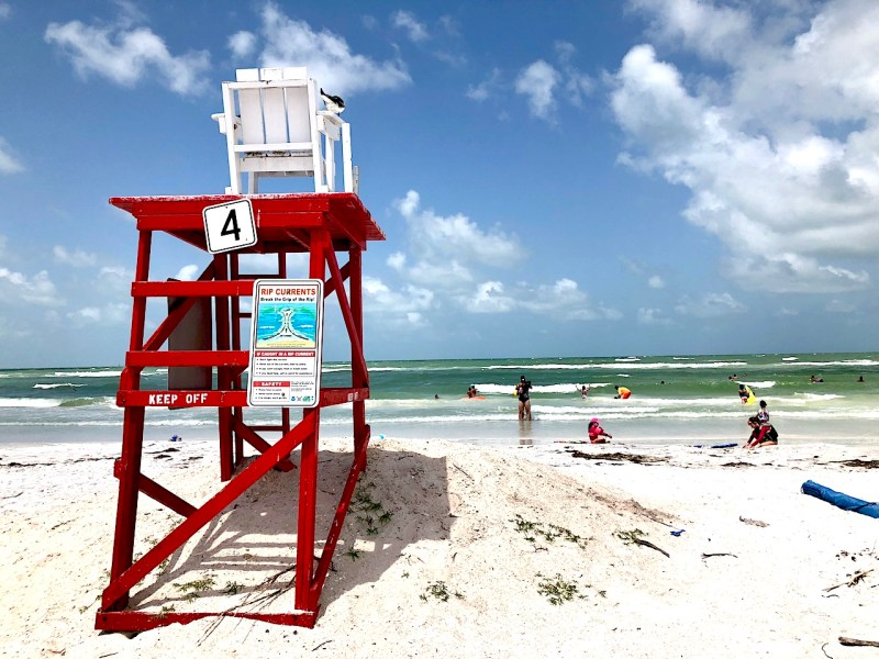 Fort de Soto beach offers amazing service, including lifeguards most of the year